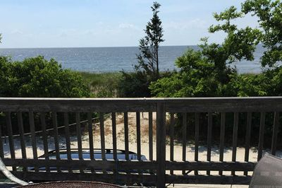 Gorgeous view of the Delaware Bay from the front deck!
