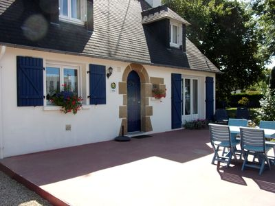"Photo for On the beach road, the cottage ""The Blue House"" 3 bedrooms / 6 people"