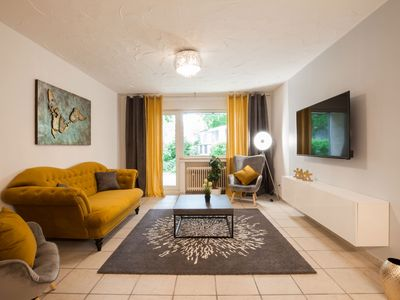 Photo for 85 sqm apartment with terrace on the ground floor - cheap stay