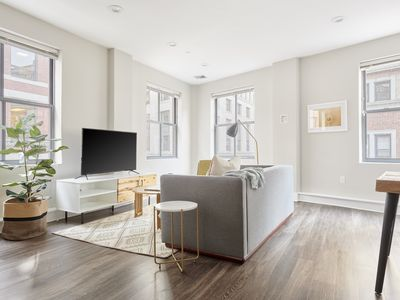 Photo for Sonder | Financial District | Chic 1BR + Sofa Bed