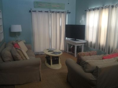 Large screen TV, clean comfortable accommodation