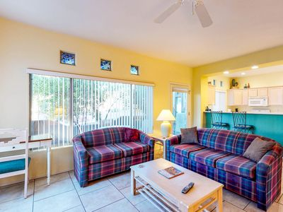 Photo for Bright and modern resort condo with shared pool and hot tub!