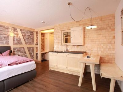 """Photo for Deluxe double room """"Gipfeltraum"""" GRAU - Landhaus Bromm"""