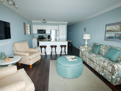 Photo for Ocean Dunes 407-Oceanfront Gem with stunning view of the beach and pool