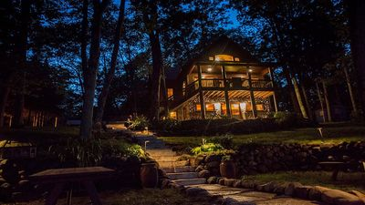 Stunning night view of the Dreamcatcher Lodge!
