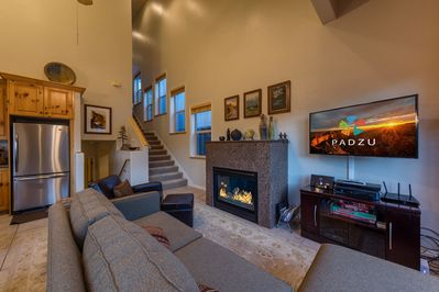 This gorgeous 3 bedroom, 4 bath house is just steps from Main Street Park City.