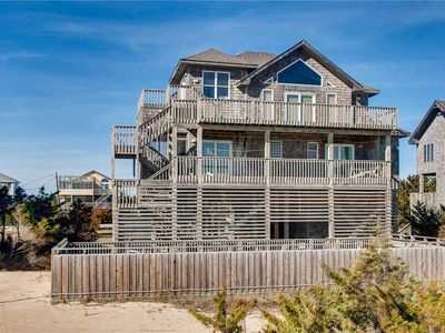 Oceanfront Island Retreat in Avon w/Pool, Hot Tub, Screened Porch, Walk to Beach