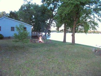 Yard with fire pit