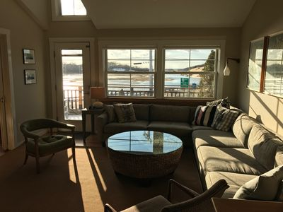 Living Room with Views of Changing Tide in Moors and Dunes