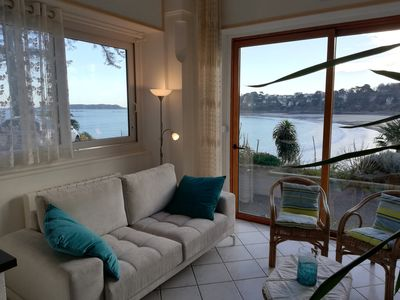 Photo for ** Superb sea view ** in a 4-room comfort apartment, direct access to the beach, park, wifi