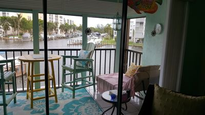 Photo for Ft Myers Beach Beautiful Spacious 2 BR, 2 Bath w/ View of Canal and Marina