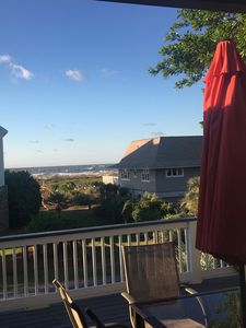 Beautiful view of the ocean from our deck