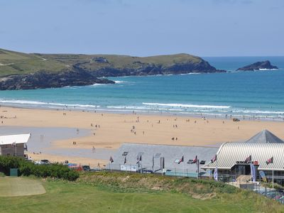 Photo for Fistral Pearl Apartment overlooking Fistral Beach and Golf Course