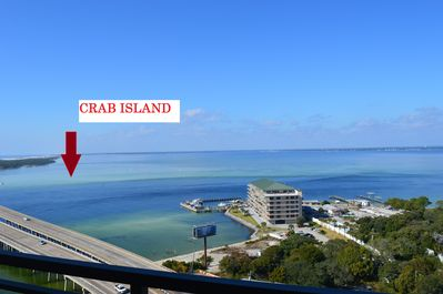 Balcony View of the Famous Crab Island