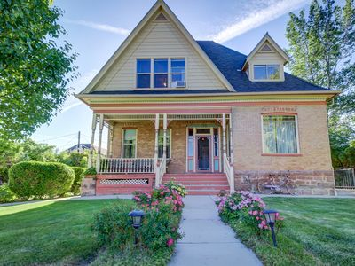Photo for Grand Victorian-style home w/ beautiful backyard garden - relax on the patio!