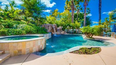 Tropical & Tranquil Backyard with Large Pool
