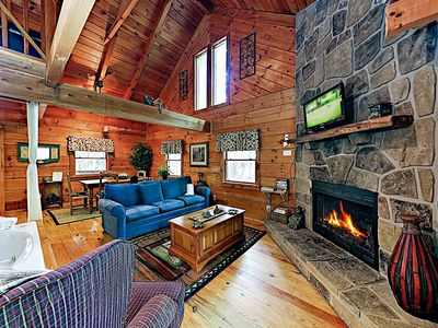 Photo for New Listing! Charming Smoky Mountain Retreat w/ Deck, Hot Tub & Fireplace