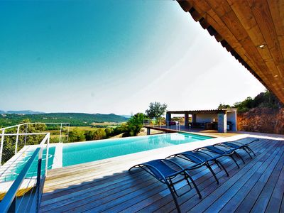Photo for NEW 4 bedroom Villa with heated pool SEA AND MOUNTAIN VIEW