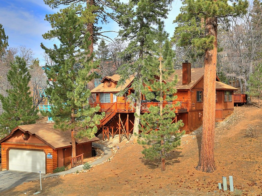 Columbine oak retreat awesome log style cabin w outdoor for Big bear retreat cabins