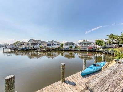 Photo for Nautical-themed waterfront getaway w/ full kitchen, furnished patio, & dock