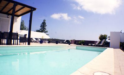 Photo for Villa sea views private heated pool near papagayo beaches quiet roof terrace