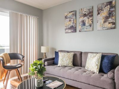 Photo for Light + Airy 2BR Apt w/ City Views + Parking