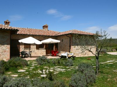 Photo for Farmhouse with small lake, swimming pool, private terrace, garden and sheep