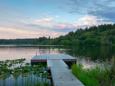 Photo for Leland Lake House/Sunrise Cottage: lake-front vacation home and cabin, sleep up to 16, pup-friendly