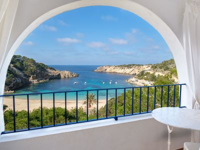 Photo for Air Conditioned Holiday Home with Sea View near Cala Vadella, Wi-Fi, Terrace and Garden