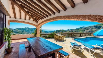 Photo for Pretty holiday home with views over the Mediterranean Sea in Competa