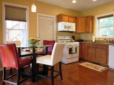 Fully equipped Kitchen with all the amenities of home including a washer/dryer.