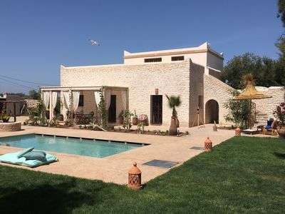 Photo for Charming villa Beldi not overlooked - 2/8 people - SWIMMING POOL - HAMMAM - WIFI
