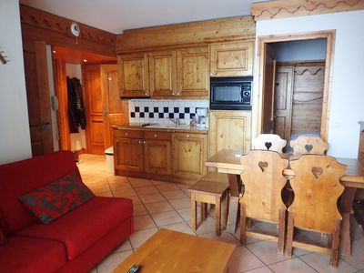 Photo for 3 rooms on the slopes Les Menuires Réberty 2000 - residence with swimming pool