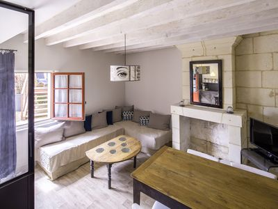 Photo for LOFT DUPLEX - 1 BEDROOM - SWIMMING POOL - EDGE OF LOIRE (1 TO 4 PERSONS)
