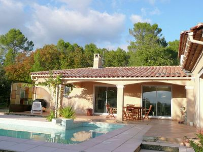 Photo for Provencal villa with pool near picturesque village in the Var