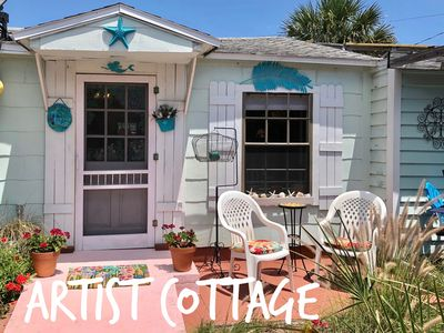 Photo for ARTIST'S COTTAGE Escape this  virus & come to our secluded beach cottage.