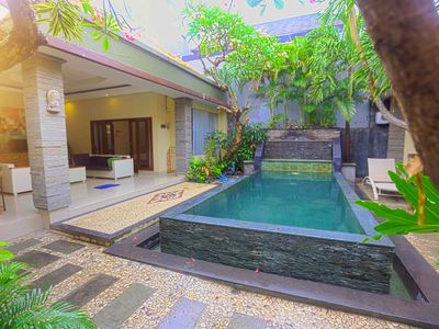 Photo for KRISHNA VILLAS PRIVATE POOL 3 BR 15 MINUTES WALK TO BEACH