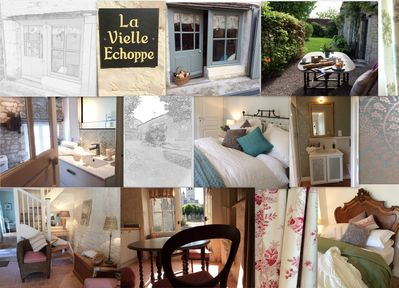 """Welcome La Vielle Echoppe meaning """"The Old Shop"""" . A mood board for perusal."""