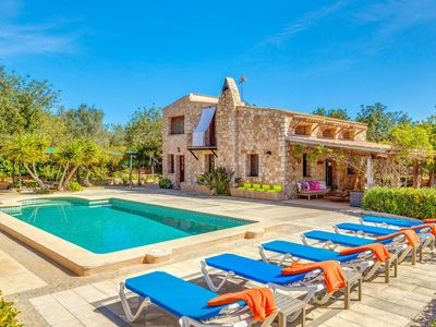 "Photo for Mediterranean Villa ""Can Rosillo"" with Wi-Fi, Garden, Terraces and Pool; Parking Available"