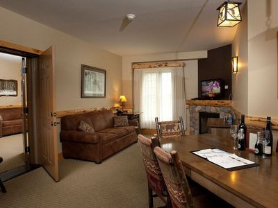 Photo for Sleeps 10! Suite + Fireplace & Balcony | Onsite Spa, Gym, & Waterpark