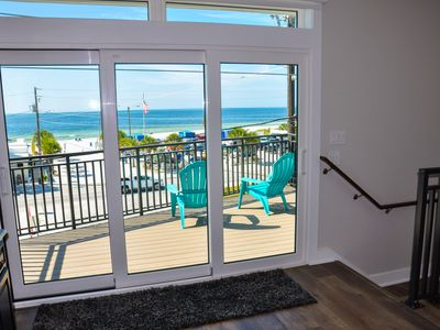 Photo for Brand New, 3/3 Private Home w Gulf Views from all 3 stories. Steps to the Beach!