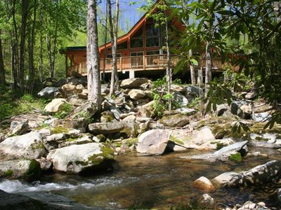 Photo for Waterfalls and Trout Fishing, Secluded Streamside Home on 82 Acres