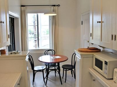 Kitchen and Dining Area at The Embassy Hotel Apartments