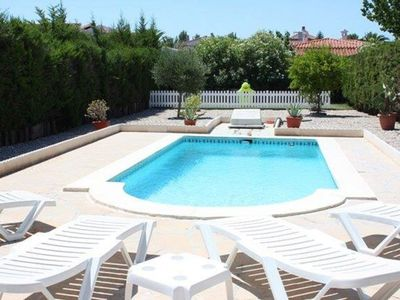 Photo for Wonderful private villa for 8 people with WIFI, private pool, TV and parking