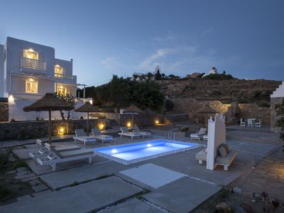 Photo for Villa Prive Mykonos, is a 4-Bedroom with Private Pool, Villa above Ornos Bay, Up to 9 Guests
