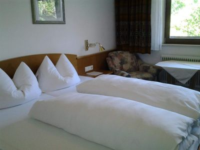 Photo for Double room with shower, WC TYPE B - Hotel Zugspitze