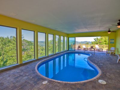 Photo for MILLION DOLLAR VIEW/ INDOOR/OUTDOOR HEATED SWIMMING POOL/HOME THEATER