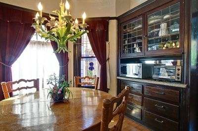 Romantic Dining Room- and another stainglass window