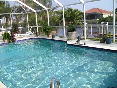 Southern Exposure Heated Pool   Gulf access canal
