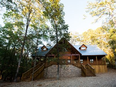 Photo for New! The Hollowtree Cabin! 3 Br 3 Bth; Sleeps 10; Shuffle Board; Hot Tub